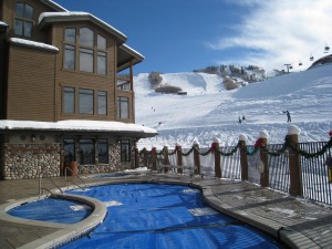 Christie Club Pool on the slopes of Mt Werner