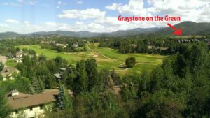 Graystone on the Green next to the Rollingstone Ranch Golf Club